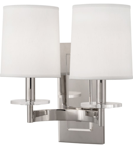 Robert Abbey S3382 Alice 2 Light 14 inch Polished Nickel with Lucite Wall Sconce Wall Light