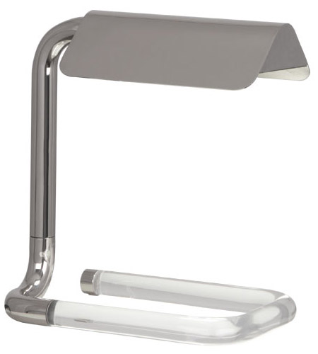Robert Abbey S3383 Alice 12 inch Polished Nickel Table Lamp Portable Light