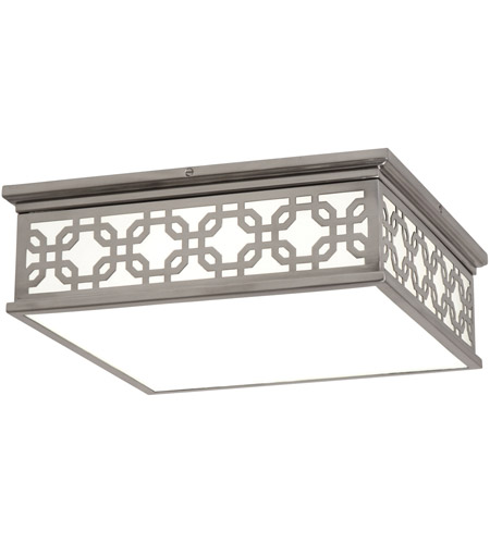 Robert Abbey S371 Williamsburg Dickinson 2 Light 15 inch Antique Silver Flushmount Ceiling Light photo