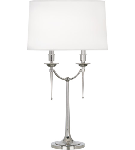 Robert Abbey S386 Cedric 30 inch 60 watt Polished Nickel Table Lamp Portable Light