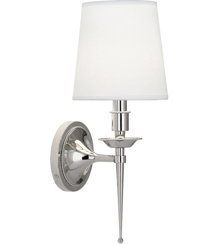 Robert Abbey S388 Cedric 1 Light 7 inch Polished Nickel Wall Sconce Wall Light