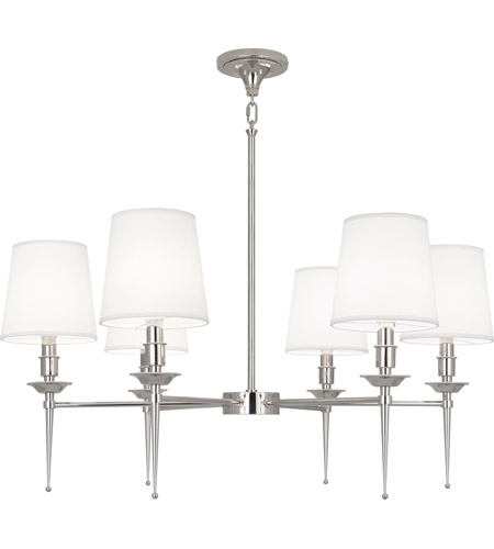 Robert Abbey S390 Cedric 6 Light 34 inch Polished Nickel Chandelier Ceiling Light