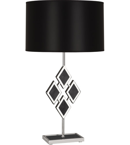 Polished Black Marble Table Lamps