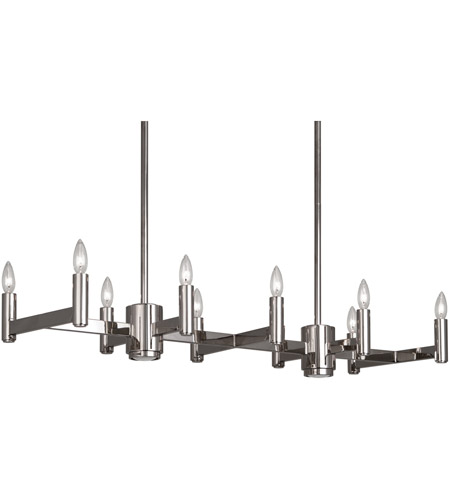 Robert Abbey S4501 Delany 12 Light 41 inch Polished Nickel Chandelier Ceiling Light