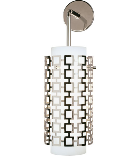 Robert Abbey S667 Jonathan Adler Parker 1 Light 7 inch Polished Nickel Wall Sconce Wall Light photo