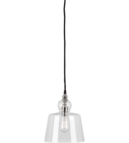 Robert Abbey S746 Albert 1 Light 9 inch Polished Nickel Pendant Ceiling Light