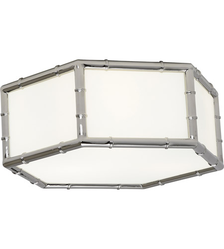 Robert Abbey S763 Jonathan Adler Meurice 3 Light 13 inch Polished Nickel Flushmount Ceiling Light photo
