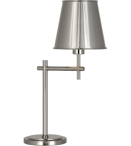 Robert Abbey S880 Aiden 21 inch 60 watt Polished Nickel Table Lamp Portable Light