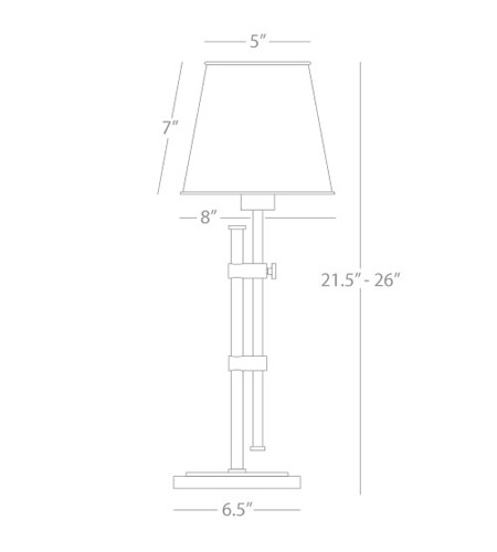 Robert Abbey S881 Aiden 22 inch 60 watt Polished Nickel Table Lamp Portable Light S881_line.jpg
