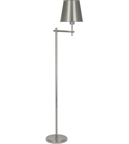 Robert Abbey S882 Aiden 57 inch 100 watt Polished Nickel Floor Lamp Portable Light