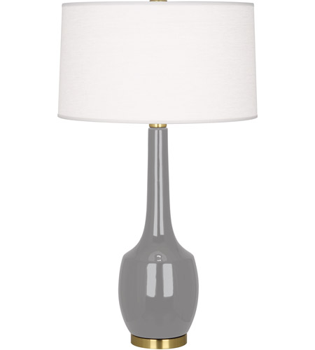 Robert Abbey ST701 Delilah 34 inch 150 watt Smoky Taupe Table Lamp Portable Light in Smokey Taupe