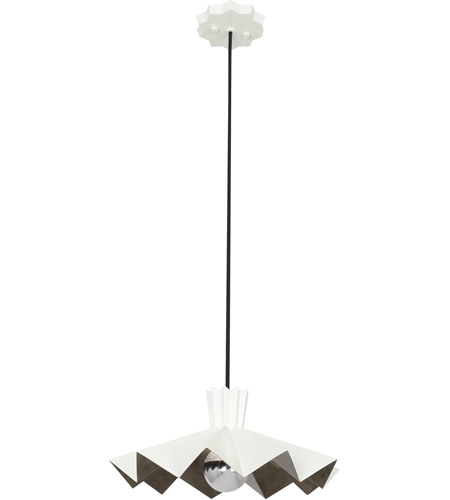 Robert Abbey Wht69 Rico Espinet Bat 1 Light 15 Inch Lily Painted Pendant Ceiling Photo