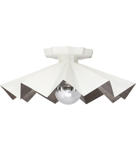Robert Abbey Wht70 Rico Espinet Bat 1 Light 6 Inch Lily Painted Flushmount Ceiling Photo