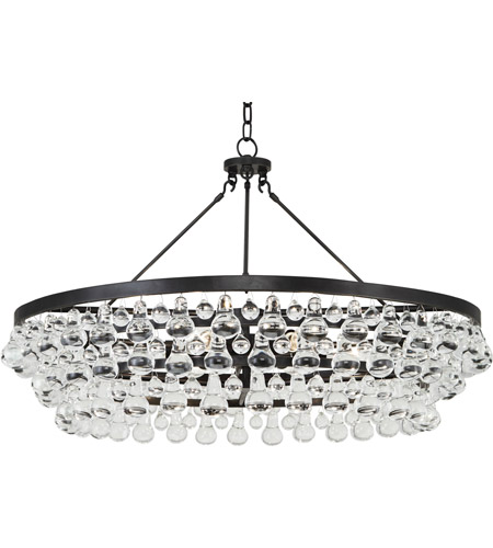 Robert Abbey Z1004 Bling 6 Light 34 inch Deep Patina Bronze Chandelier Ceiling Light photo