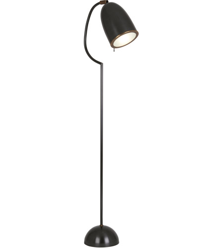 Robert Abbey Z1547 Director 58 inch 60 watt Deep Patina Bronze with Aged Brass Floor Lamp Portable Light