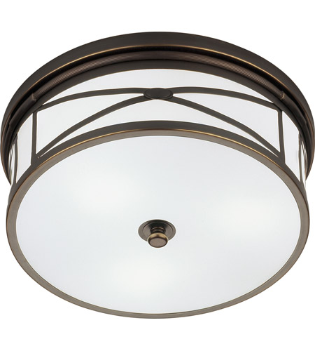 Robert Abbey Z1985 Chase 3 Light 15 inch Deep Patina Bronze Flushmount Ceiling Light photo
