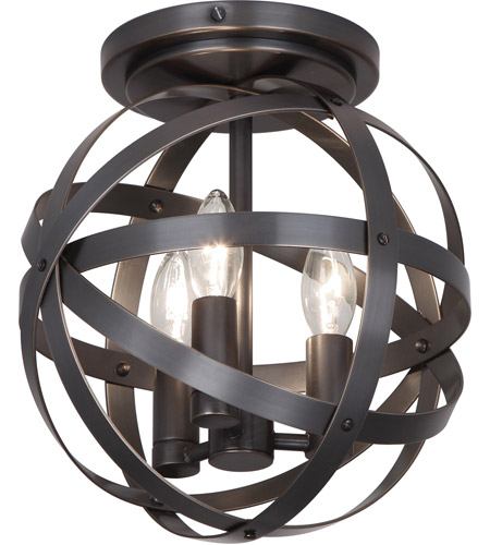 Robert Abbey Z2166 Lucy 3 Light 10 inch Deep Patina Bronze Flushmount Ceiling Light photo