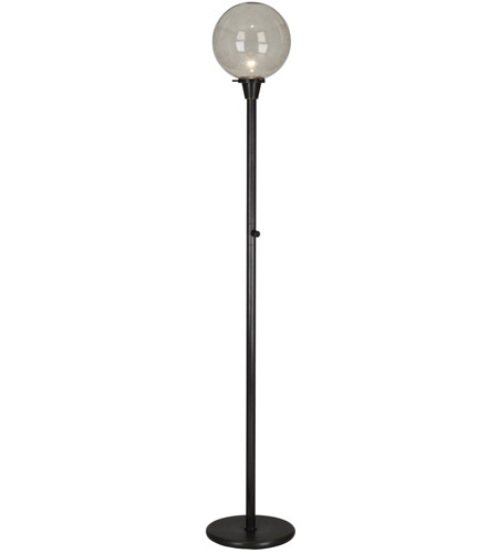 100 watt deep patina bronze floor lamp portable light in topaz seeded. Black Bedroom Furniture Sets. Home Design Ideas