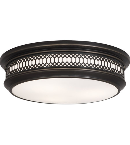 Robert Abbey Z307 Williamsburg Tucker 3 Light 15 inch Deep Patina Bronze Flushmount Ceiling Light photo