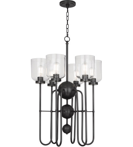 Robert Abbey Z410 Williamsburg Tyrie 6 Light 20 inch Deep Patina Bronze Chandelier Ceiling Light photo