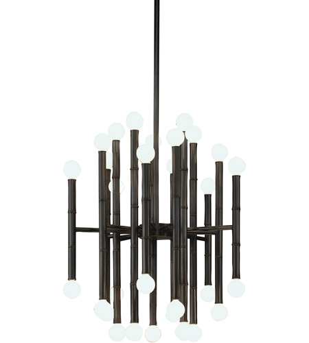 Robert Abbey Z654 Jonathan Adler Meurice 30 Light 15 inch Deep Patina Bronze Chandelier Ceiling Light photo