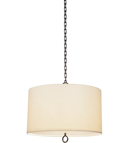 Robert Abbey Z657 Jonathan Adler Meurice 3 Light 15 inch Deep Patina Bronze Pendant Ceiling Light photo