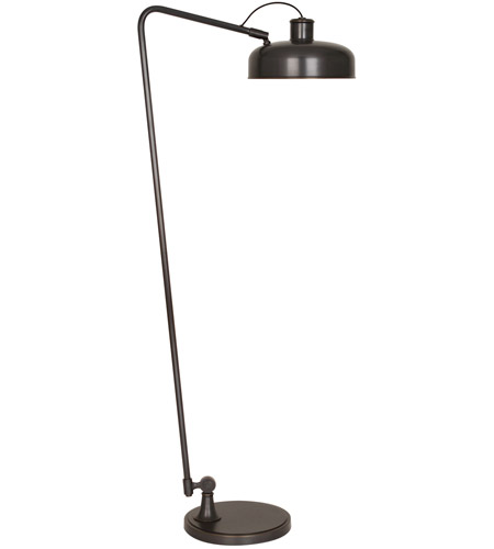 Robert Abbey Z748 Albert 18 inch 100 watt Deep Patina Bronze Floor Lamp Portable Light
