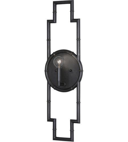 Robert Abbey Z769 Jonathan Adler Meurice 1 Light 7 inch Deep Patina Bronze Wall Sconce Wall Light photo