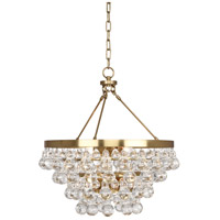 Bling 4 Light 21 inch Antique Brass Chandelier Ceiling Light