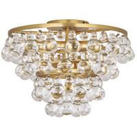 Robert Abbey 1002 Bling 2 Light 15 inch Antique Brass Flushmount Ceiling Light