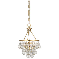Robert Abbey 1006 Bling 2 Light 10 inch Antique Brass Chandelier Ceiling Light