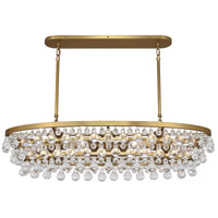 Robert Abbey 1007 Bling 8 Light 19 inch Antique Brass Chandelier Ceiling Light