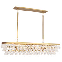 Robert Abbey 1008 Bling 8 Light 43 inch Antique Brass Chandelier Ceiling Light