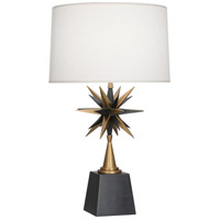Robert Abbey 1015 Cosmos 30 inch 150 watt Deep Patina Bronze with Warm Brass Table Lamp Portable Light