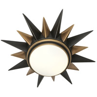 Robert Abbey 1017 Cosmos 2 Light 20 inch Deep Patina Bronze with Warm Brass Flushmount Ceiling Light