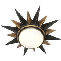 Robert Abbey 1017 Cosmos 2 Light 20 inch Warm Brass with Deep Patina Bronze Flushmount Ceiling Light