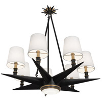 Robert Abbey 1018 Cosmos 8 Light 36 inch Deep Patina Bronze with Warm Brass Chandelier Ceiling Light