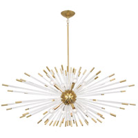 Robert Abbey 1200 Andromeda 8 Light 15 inch Modern Brass with Clear Acrylic Chandelier Ceiling Light