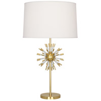 Robert Abbey 1201 Andromeda 28 inch 150 watt Modern Brass with Clear Acrylic Table Lamp Portable Light