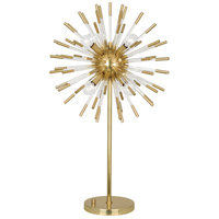 Robert Abbey 1202 Andromeda 33 inch 40 watt Modern Brass with Clear Acrylic Table Lamp Portable Light