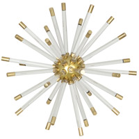 Robert Abbey 1205 Andromeda Modern Brass with Clear Acrylic Decorative Sphere