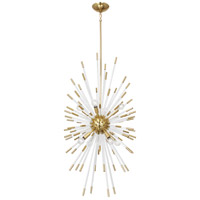 Robert Abbey 1206 Andromeda 8 Light 20 inch Modern Brass / Lucite Chandelier Ceiling Light