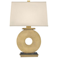 Tic-Tac-Toe 23 inch 150 watt Natural Brass Table Lamp Portable Light in Antique Brass w/ Black Marble, Pale Shell Dupioni Fabric