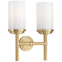 Robert Abbey 1325 Halo 2 Light 11 inch Brushed Brass with Natural Brass Wall Sconce Wall Light in Polished Brass