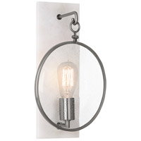 Robert Abbey 1418 Fineas 1 Light 9 inch Alabaster Stone with Dark Antique Nickel Wall Sconce Wall Light