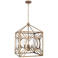 Robert Abbey 1420 Fineas 4 Light 18 inch Aged Brass Pendant Ceiling Light