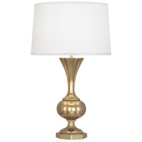 Robert Abbey 1441 Williamsburg Clementina 30 inch 150 watt Antiqued Modern Brass Table Lamp Portable Light