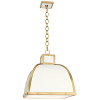Robert Abbey 1445 Ranger 3 Light 18 inch Glossy White Painted with Modern Brass Pendant Ceiling Light