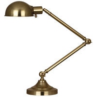 Robert Abbey 1500 Kinetic 8 inch 60 watt Natural Brass Table Lamp Portable Light