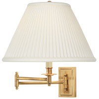 Robert Abbey 1504 Kinetic 14 inch 150 watt Antique Brass Wall Swinger Wall Light in Natural Side Pleat